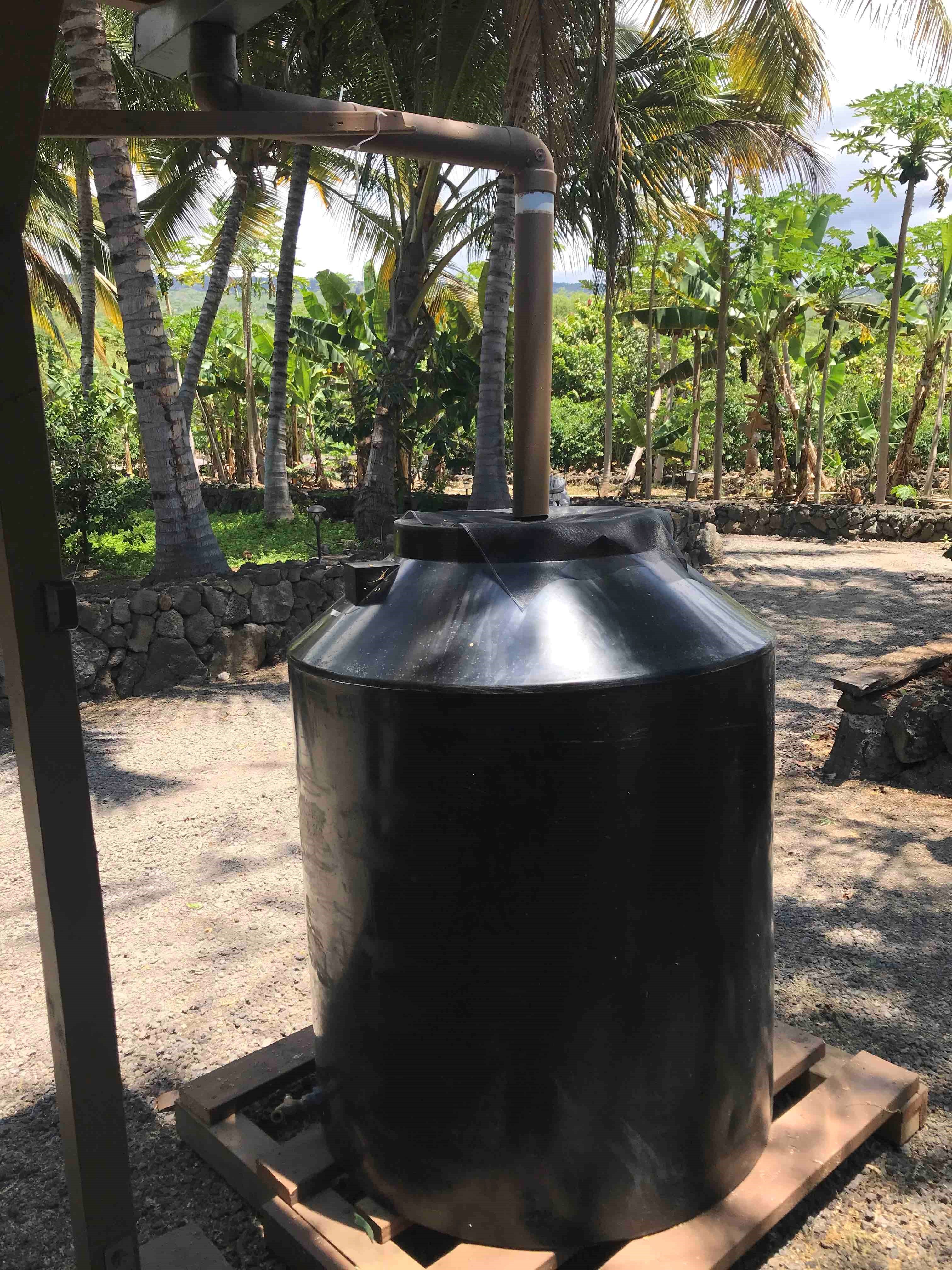 LightManufacturing water tank on resort grounds